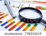 statistics  investment... | Shutterstock . vector #778223215