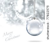 merry christmas glass ball... | Shutterstock . vector #77822575
