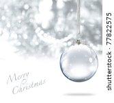 merry christmas glass ball... | Shutterstock . vector #77822575