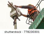 a male technician is doing... | Shutterstock . vector #778230301