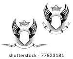 heraldry elements with wings... | Shutterstock . vector #77823181