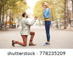young man with engagement ring... | Shutterstock . vector #778235209
