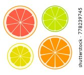 set of slices of different... | Shutterstock .eps vector #778239745