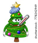 xmas christmas tree mascot... | Shutterstock .eps vector #778242949
