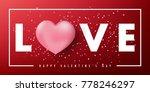 happy valentine's day vector... | Shutterstock .eps vector #778246297