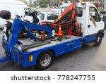 the broken scooter is taken... | Shutterstock . vector #778247755