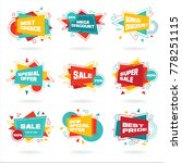 big set of colorful abstract... | Shutterstock .eps vector #778251115