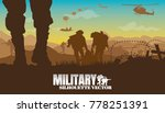 military vector illustration ... | Shutterstock .eps vector #778251391