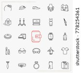 fashion line icons set | Shutterstock .eps vector #778254361