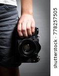 Old Slr Film Camera In The...
