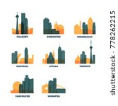canada cities icons set.... | Shutterstock .eps vector #778262215