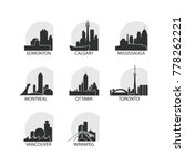 canada cities icons set.... | Shutterstock .eps vector #778262221
