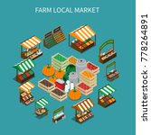 farm local market isometric... | Shutterstock .eps vector #778264891