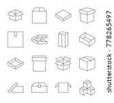boxes icons set. editable... | Shutterstock .eps vector #778265497