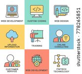 icons for web design and... | Shutterstock .eps vector #778265851