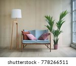 spacious wooden living room... | Shutterstock . vector #778266511