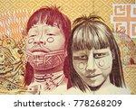 native americans on brazil 1000 ... | Shutterstock . vector #778268209