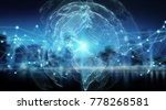connections system sphere... | Shutterstock . vector #778268581