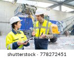 plant workers during work | Shutterstock . vector #778272451