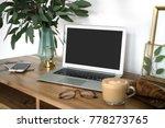 interior of a cozy feminine... | Shutterstock . vector #778273765