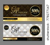 voucher template with dark... | Shutterstock .eps vector #778277167