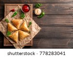 wooden board with delicious... | Shutterstock . vector #778283041