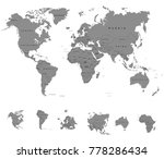 map of the world on a white... | Shutterstock .eps vector #778286434