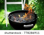 barbecue grill on backyard | Shutterstock . vector #778286911