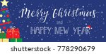 merry christmas and a happy... | Shutterstock .eps vector #778290679