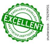 grunge green excellent round... | Shutterstock .eps vector #778290931