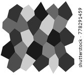 black and white irregular grid  ... | Shutterstock .eps vector #778291459