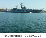 russian missile cruiser in the...   Shutterstock . vector #778291729