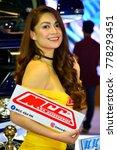 Small photo of MANILA, PH - NOV. 30: Unidentified female model at Manila Auto Salon on November 30, 2017 in Manila, Philippines. Manila Auto Salon is a annual gathering exhibit for automotive aftermarket industry.