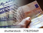 euro banknotes in man hand... | Shutterstock . vector #778293469