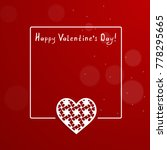 valentine card with a frame and ... | Shutterstock .eps vector #778295665
