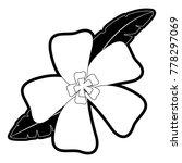flower with leaves  vector... | Shutterstock .eps vector #778297069