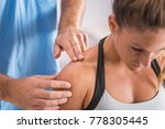 physical therapy. therapist... | Shutterstock . vector #778305445