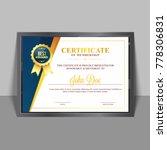 certificate template of... | Shutterstock .eps vector #778306831