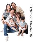 studio shot of family group...   Shutterstock . vector #77830711