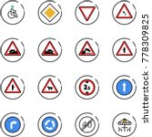 line vector icon set   disabled ... | Shutterstock .eps vector #778309825