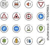 line vector icon set   elevator ... | Shutterstock .eps vector #778309861