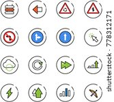 line vector icon set   sign... | Shutterstock .eps vector #778312171