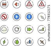 line vector icon set   sign... | Shutterstock .eps vector #778312171