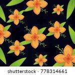 beautiful flowers design  | Shutterstock .eps vector #778314661