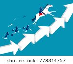 business team moving up arrow... | Shutterstock .eps vector #778314757