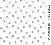 hand drawn pink acorn...   Shutterstock .eps vector #778316629