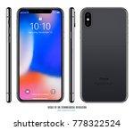 smartphone mockup in iphone... | Shutterstock .eps vector #778322524