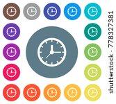 analog clock flat white icons... | Shutterstock .eps vector #778327381