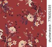 trendy vintage vector floral... | Shutterstock .eps vector #778331335