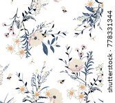 beautiful trendy  vector floral ... | Shutterstock .eps vector #778331344